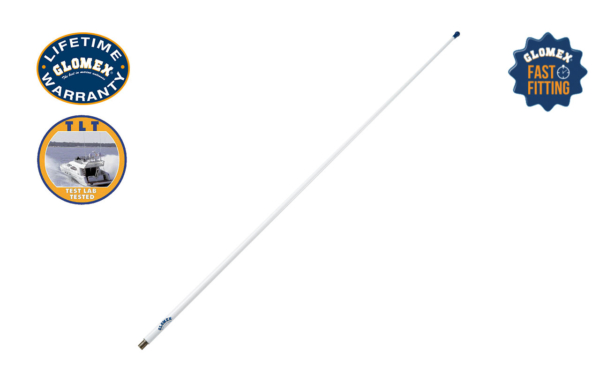 RA300FM - 4' GLOMEASY AM/FM ANTENNA WITH FME TERMINATION, 3DB