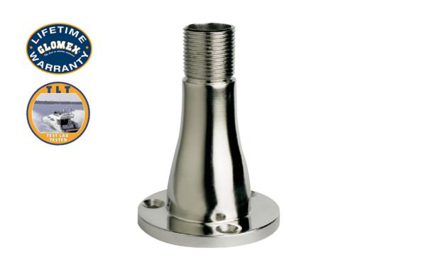"Professional VHF Antenna - PRA451BU - Glomex Marine Antennas USA Mounts - V9174 - 4"" STAINLESS STEEL STRAIGHT MOUNT 1""-14 THREAD"