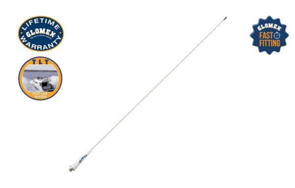 "RA106SLSFME - 35"" GLOMEASY LINE VHF ANTENNA - STAINLESS STEEL WHIP"