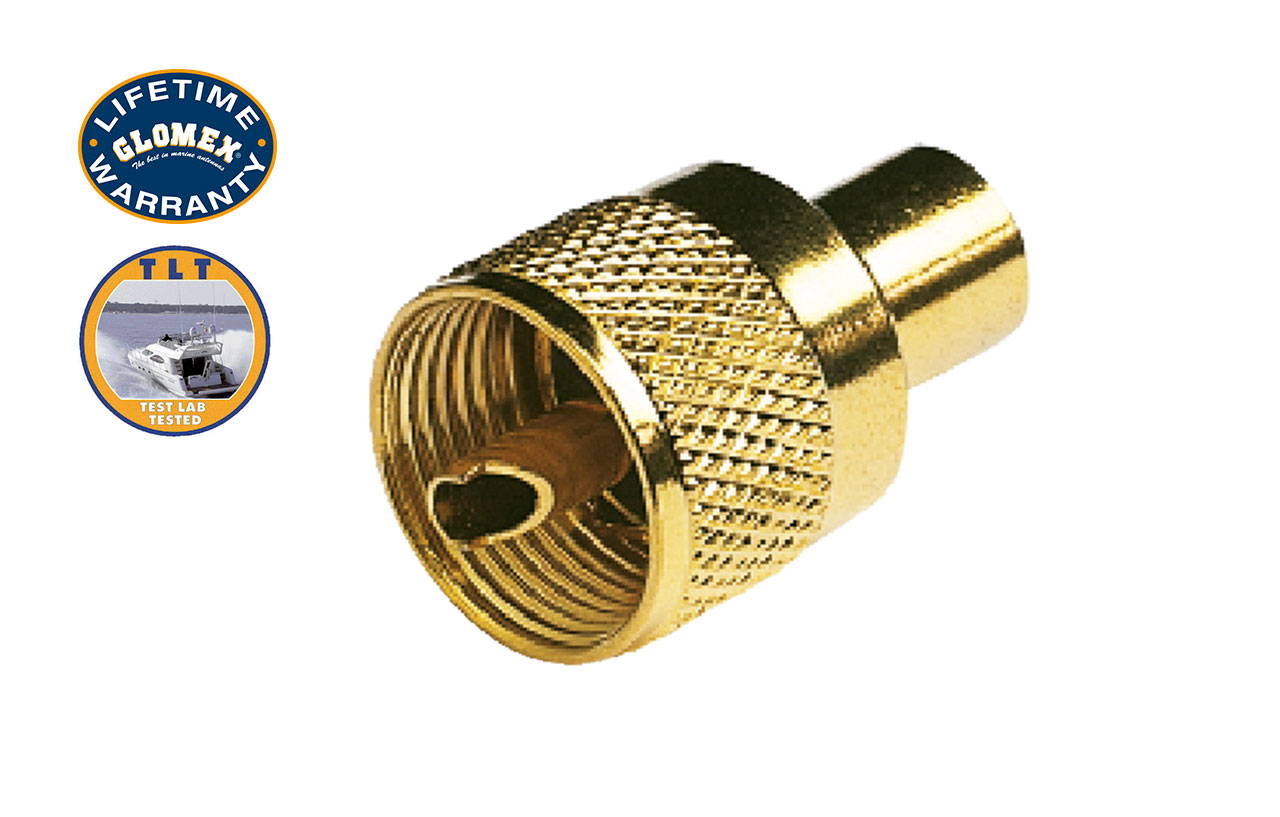 Connectors - RA132GOLD - GOLD TWIST-ON PL-259 CONNECTOR FOR RG-58C/U