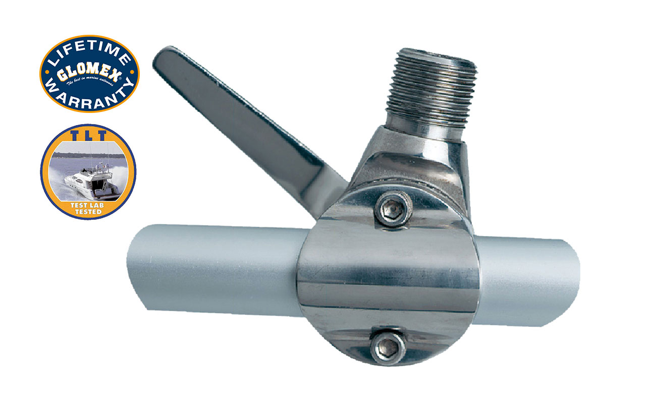 """Mounts - RA165 - STAINLESS STEEL RAIL MOUNT FOR 7/8"""" TO 1"""" RAILING"""